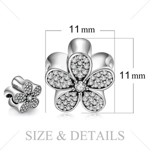 Image 5 - JewelryPalace Daisy Flower 925 Sterling Silver Beads Charms Silver 925 Original For Bracelet Silver 925 original Jewelry Making
