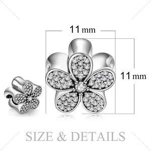 Image 5 - JewelryPalace Hoa Cúc Bạc 925 Hạt Charm Bạc 925 Nguyên Bản Cho Vòng Tay Bạc 925 Nguyên Bản Trang Sức Làm