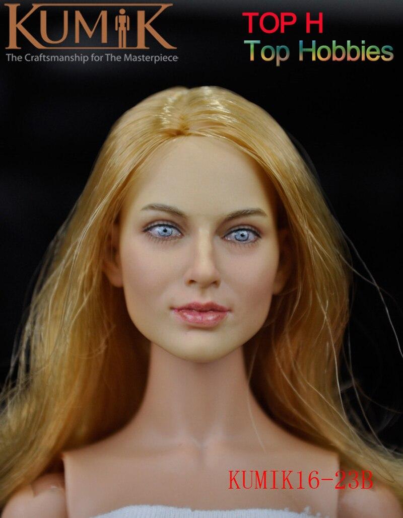 KUMIK 16-23 B 1/6 Scale Female Headplay Girl Head Sculpt Fit 12 Hot Toys Phicen Action Figure sony kdl 32wd752 silver телевизор