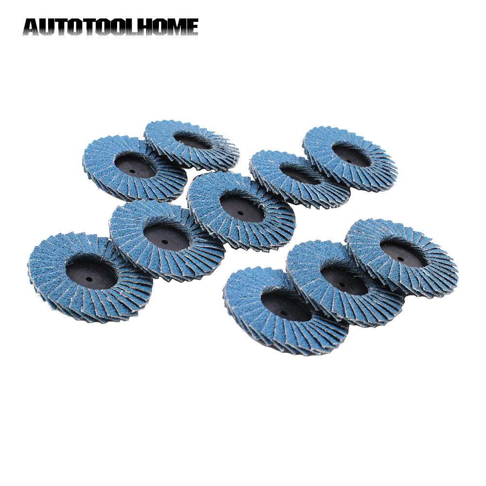 Flap Disc 80 Grit 50mm Sanding Disk for Rolor Roll Lock Abrasive Tools Fits Polishing Metal Iron Rust Removal Grinding Wheel
