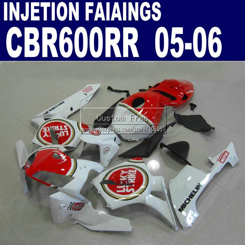 Us 357 88 8 Off Plastic Injection Molding Fairings Kit For Honda 2005 2006 Lucky Strike Cbr 600 Rr Fairing 600rr Cbr600rr 05 06 Body Parts In Covers