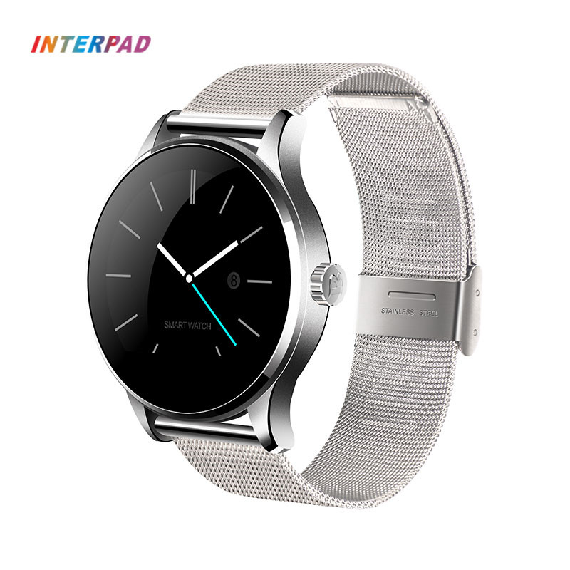 лучшая цена Original Interpad K88H Smart Watch Classic Health Metal Smartwatch Heart Rate Monitor Leather & Steel Strap For Men Women Lover