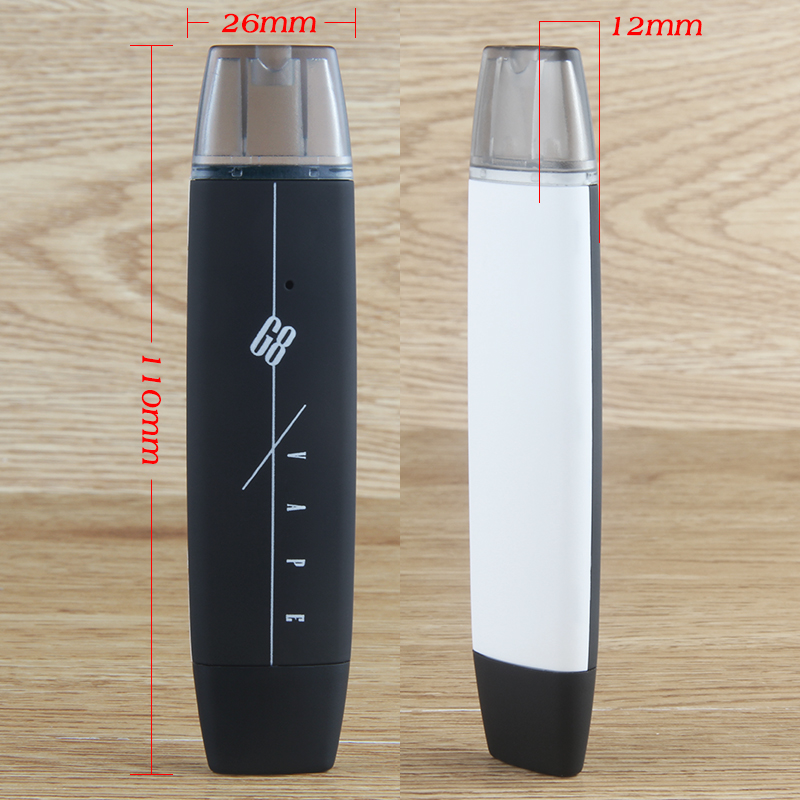 50PCS New G8 Vape pen Kit with 300mAh Battery POD mod rechargeable battery Vape 1ml Big Vapor E cigarette Hookah Vape Pen kit