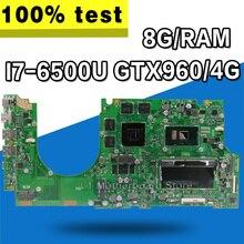 UX510UW Материнская плата ноутбука I7-6500U GTX960/4G 8G/ram для ASUS UX510 UX510UX UX510UXK UX510UWK тестовая материнская плата UX510UW