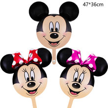 Mickey Minnie Mouse aluminum balloons baby shower girl boy birthday party wedding Valentine's Day decor globos balloon 47X36cm(China)