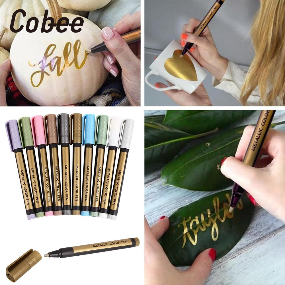 10Pcs/Box Paint Pen Color Scrapbook Craft Pen Home Marker Pen ABS Schooling Stationery