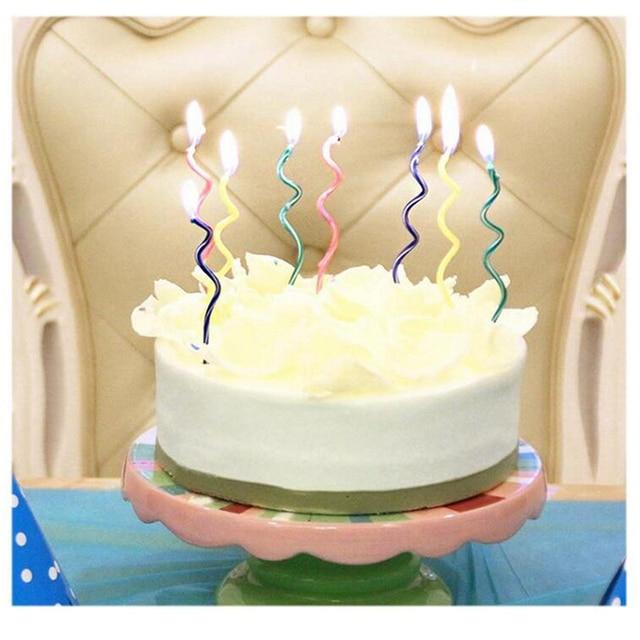 unidades bobina espiral festival decorar su uso fiesta en casa feliz cumpleaos torta de cumpleaos