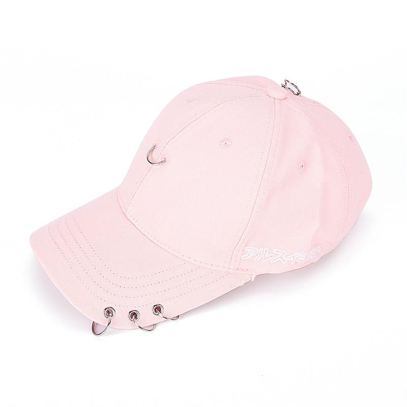 Hip Hop Ring Hoop Baseball Cap Safety Pin Strakback Snapback Hat For Men Women Sport Fishing Cap Dad hat