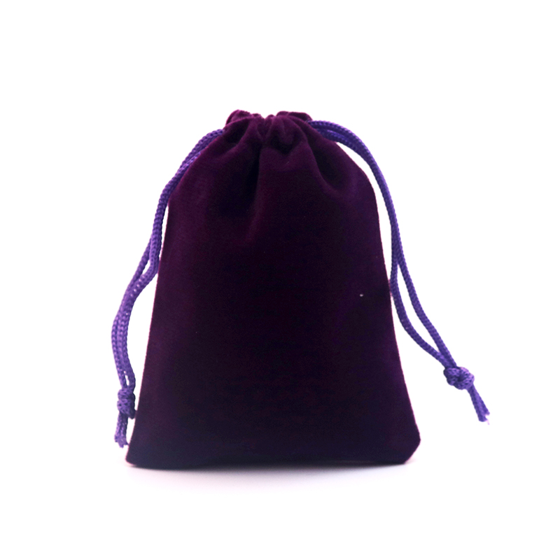 Velvet Bags Jewellery Pouches 50pcs/lot 8x10cm Purple Beautiful Gift Package Fabric Pouch Velour Customized Logo