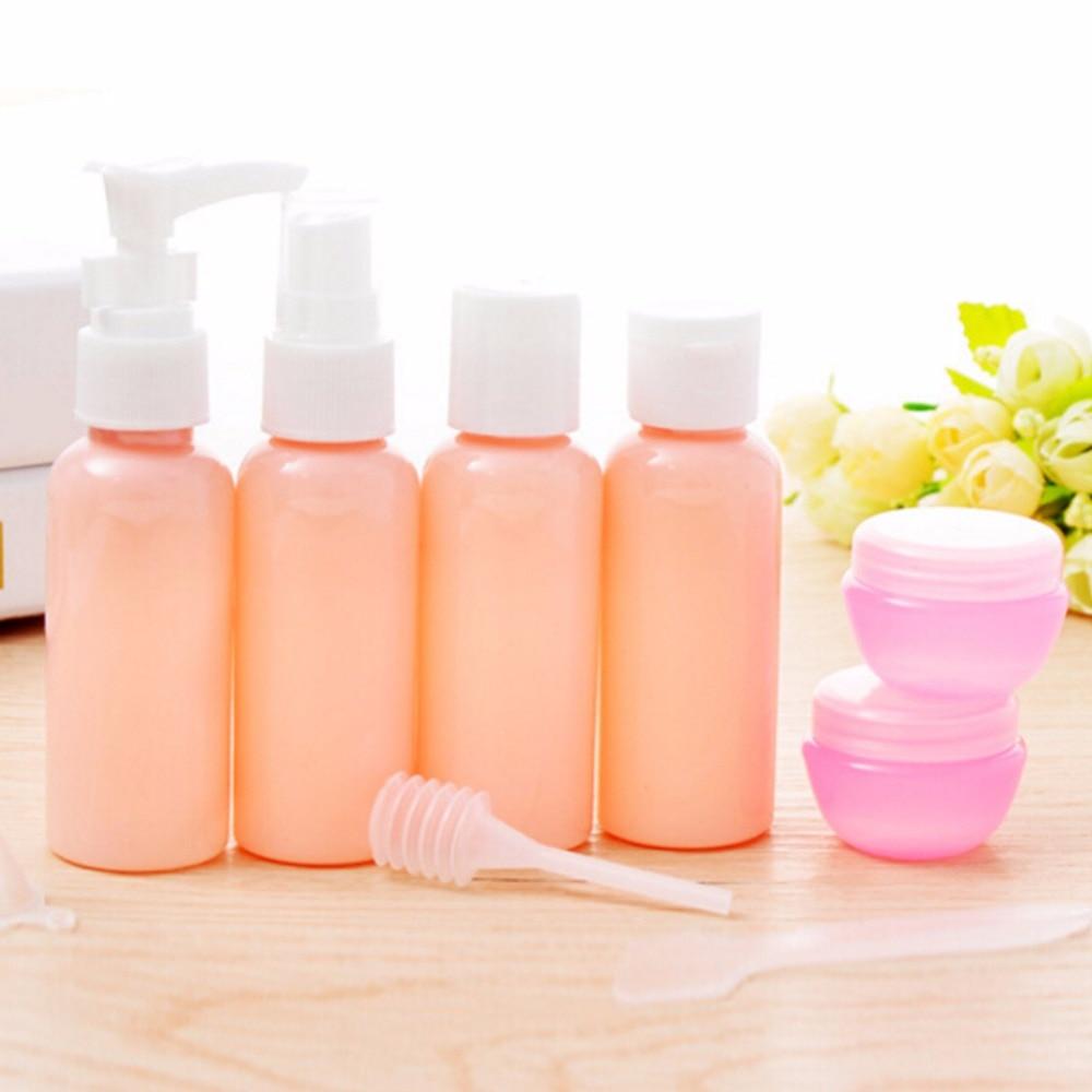 9pcs/set Mini Plastic Transparent Small Empty Perfume  Bottle Outdoor Travel MakeUp Skin Care Lotion Case Container Bottle