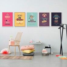 Tipografía motivacional, citas de vida, Retro Vintage impresiones de arte, póster Hippie, cuadros de pared, pintura en lienzo, sin marco