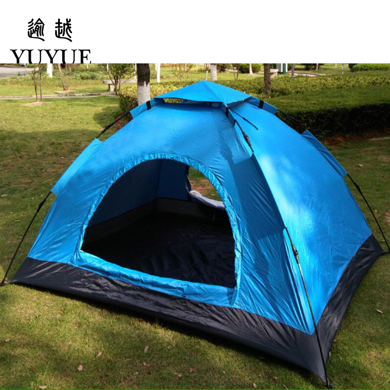 3-4 person cheap tent camping for cleary day hiking outdoor camping tente camping randonnee automatic tent  for family outings 4