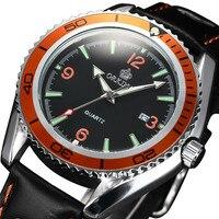 ORKINA Brand Orange Fashion Design Men S Quartz Analog Sport Watch