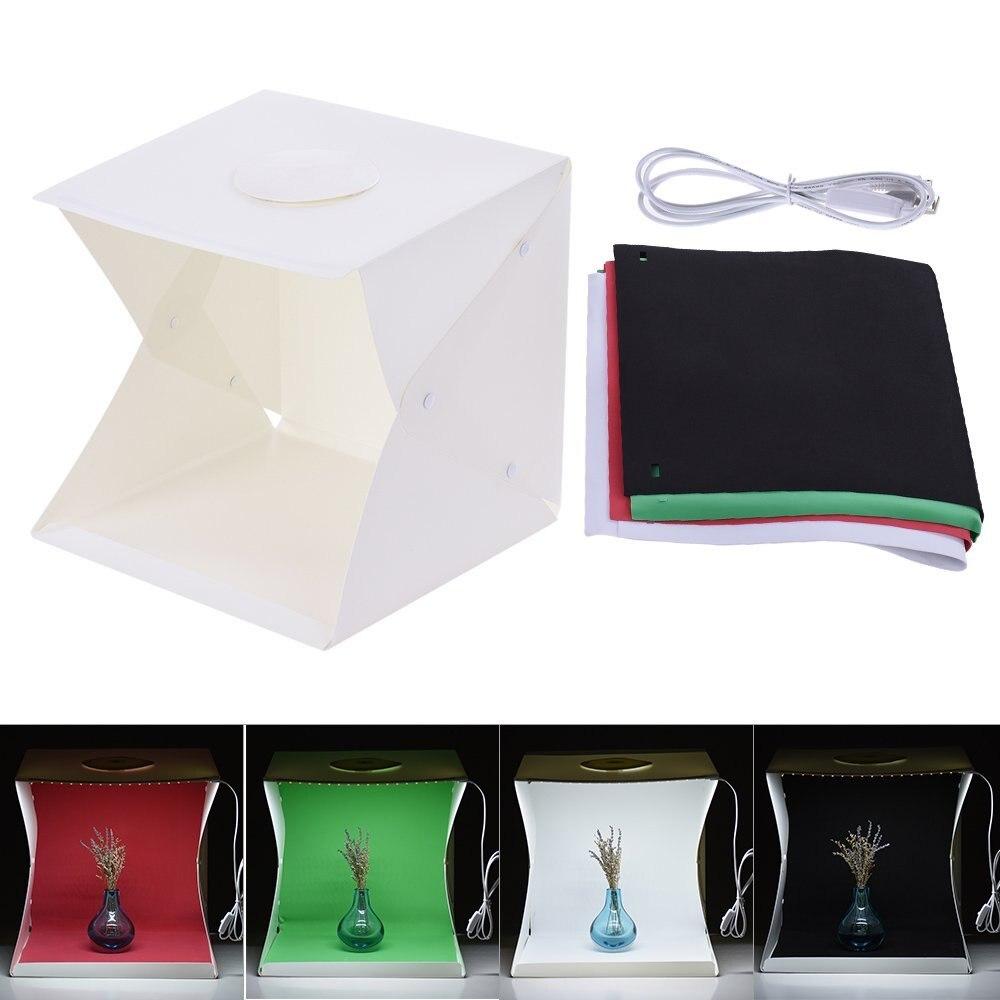 40cm Lightweight Foldable Light Room LED Photo Studio Photography Light Tent Backdrop Mini Box 40cm