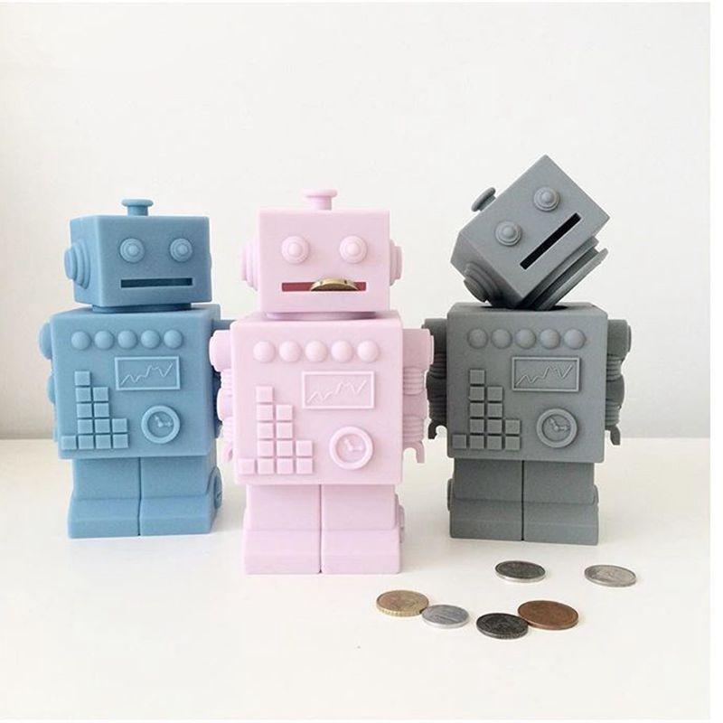 Скандинавские Милые силиконовые котелки в коробках для денег в детской комнате, копилка для сохранения копилки в ящиках для хранения и бунк...