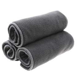 3 шт./лот бамбуковый уголь подгузники для взрослых 5 Слои микрофибры вставки ткани подгузников мочесборник для подростков взрослых Diappers S17D5