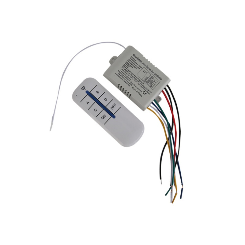 High Quality Wireless 4 Channels ON/OFF 220V Lamp Remote Control Switch Receiver Transmitter 5pcs lot high quality 2 pin snap in on off position snap boat button switch 12v 110v 250v t1405 p0 5