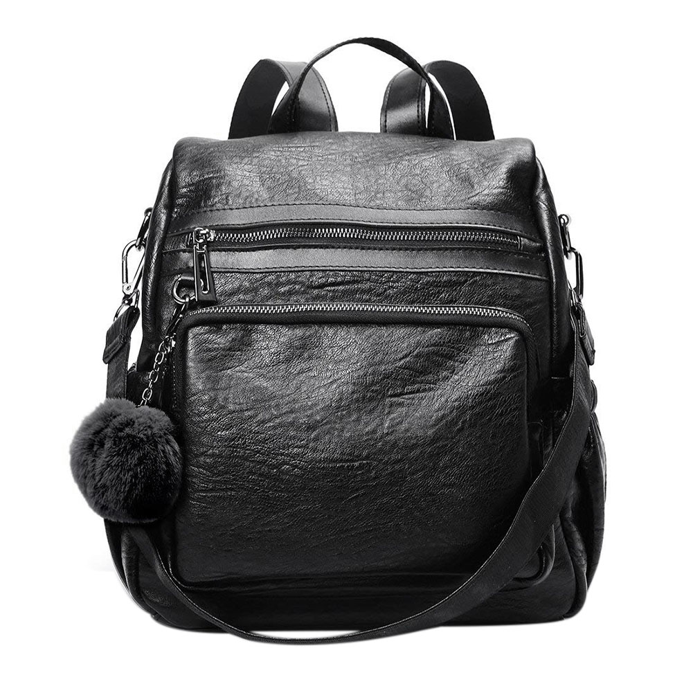 c9fc088200ab Purse for Women PU Leather Fashion Travel Detachable Convertible Ladies Shoulder  School Bag. US  17.91. Famous Brand Women Backpack Lovely Small ...