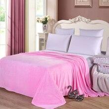 Розовый печать магнитный одеяло главная постельное белье лист полиэстер фланели руно одеяло