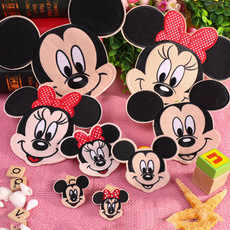 Hot koop! Mickey Mouse Minnie Patch Cartoon Patches Ijzer Op Patches Voor Kinderen kleding tas accessoires stickers