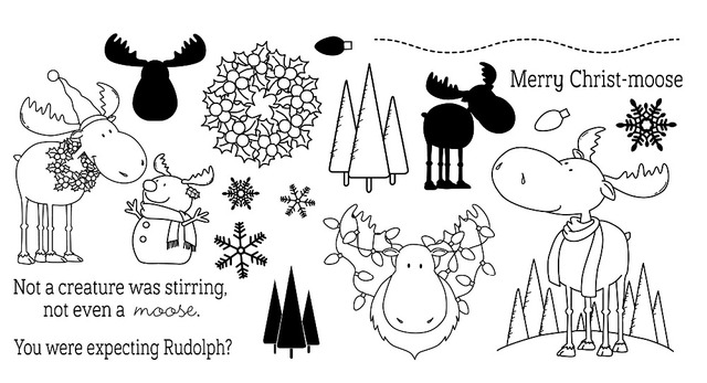 Christmas deer clear Silicone Rubber Stamp for DIY scrapbooking/photo album Decorative craft A82