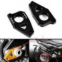 Motorcycle CNC Rear Axle Spindle Chain Adjuster Blocks Fit For Yamaha TMAX 530 500 FZ8 FZ1