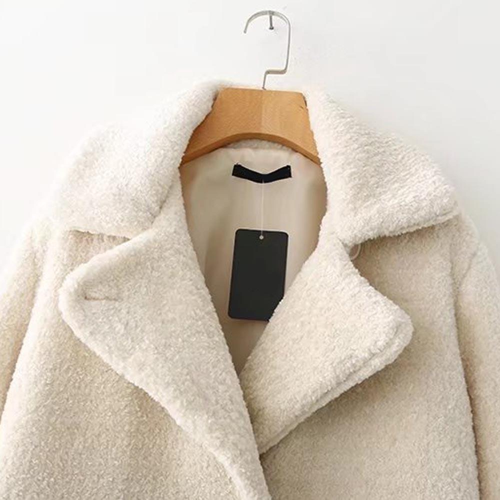 Cappotto 2018 Shaggy Donne Shearling Dentellato Di Al Soffici Collare Txjrh Caldo Giacca Medio Top Peloso Lungo Inverno Tenere Outwear Fur Faux Elegante Beige cFlK1JT3