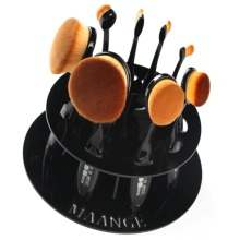 10 Hole Oval Makeup Brush Holder Drying Rack Organizer Cosmetic Shelf Tool Without Brushes