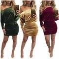 Women Dress С Плеча Без Бретелек Партия Dress Bodycon Элегантные Вечерние Платья Тавра