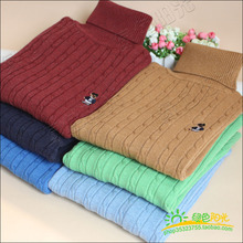 2014 Winter Autumn Boy Sweaters Kids Knitted Sweater Boys Turtleneck Sweaters Children Outerwear Clothing