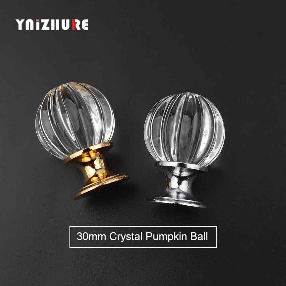 YNIZHURE Marka Tasarım 20-40mm Kristal Cam Kolları Dresser Çekmece Mutfak Dolap Çekme Dolap Kolu