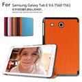 Тонкий Магнитный Складной Флип PU Чехол Для Samsung Galaxy Tab E 9.6 T560 T561 Кожа Случае + Пленка + ручка