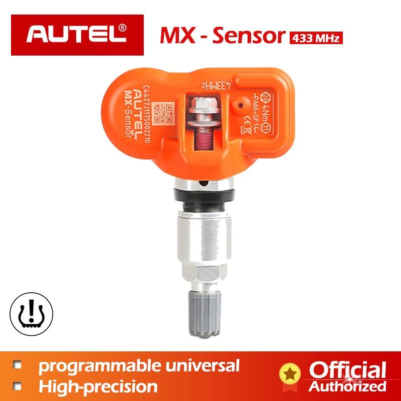 AUTEL Capteur MX-Capteur TPMS 433 mhz Capteur Pour la Pression des Pneus Universal MX-Capteur 433 mhz Programmeur travail avec AUTEL Maxitpms TS601