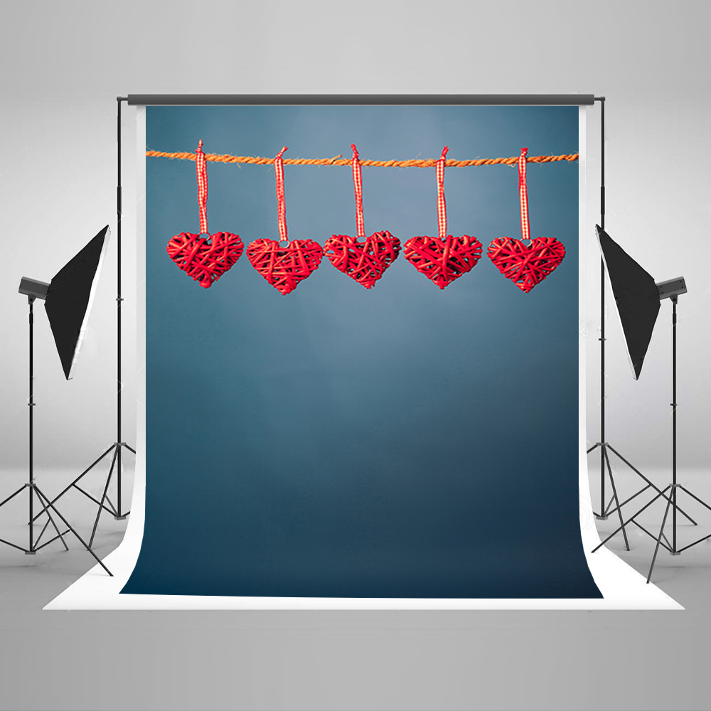 Wedding Background Hanging Red Love Foto Background Backgrounds for Photo Studio