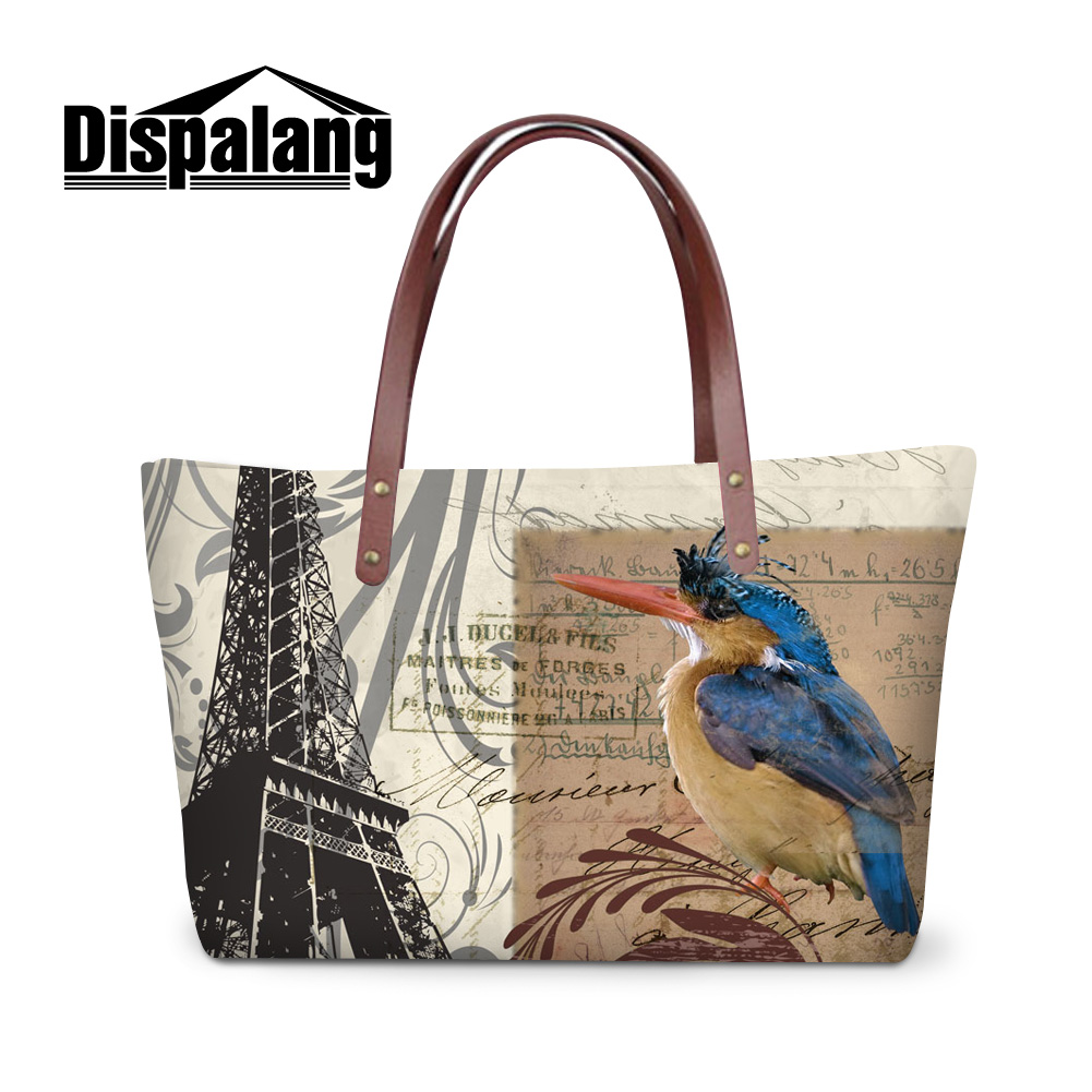 Dispalang Vintage Style Effile Tower Landscape Women Handbags Las Totes Bags Quality Top Handle S Ping Hand In From