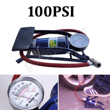 high quality Car pump air compressor Car-styling Foot Air Pump 100PSI Car Vehicle Tires Bicycle Bike Motorbike Ball Inflator
