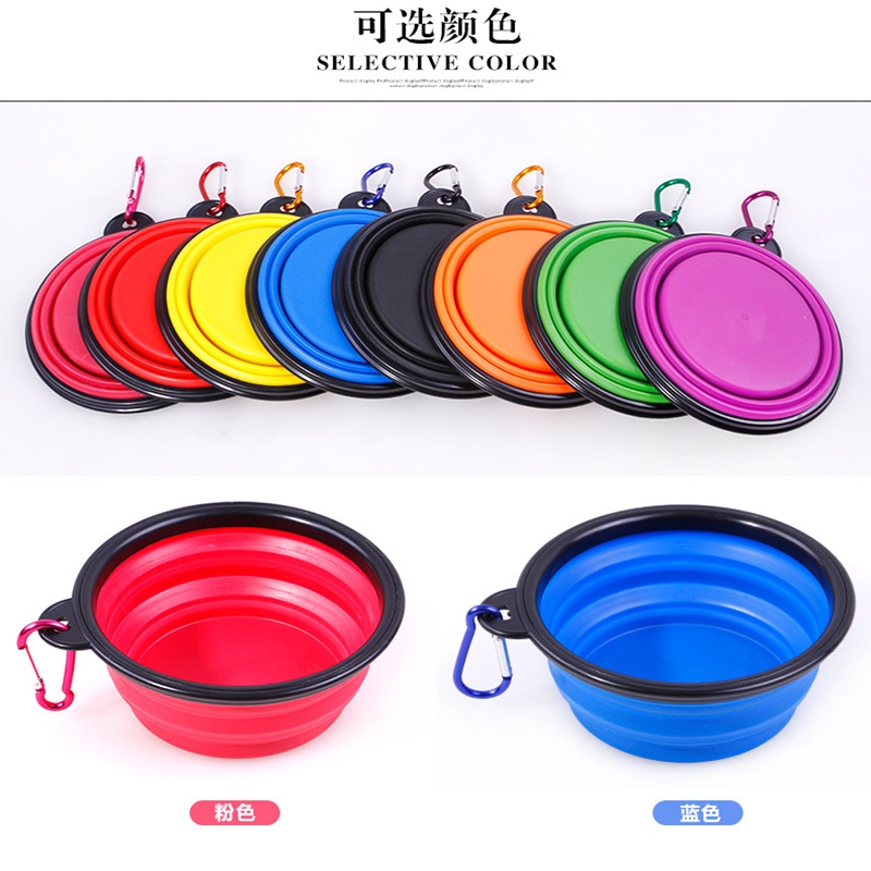 1000ml Large Collapsible Folding Silicone Dog Bowl Outdoor Travel Portable Puppy Food Container Feeder Dish Bowl