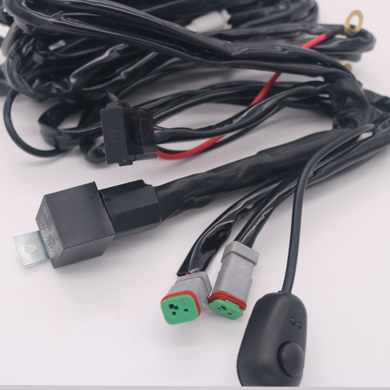 Wiring Harness Kit- 40 Amp Relay-on-off Switch- For Light Bar Off Road Off-Road Driving lights Atv/jeep (2 Lead )