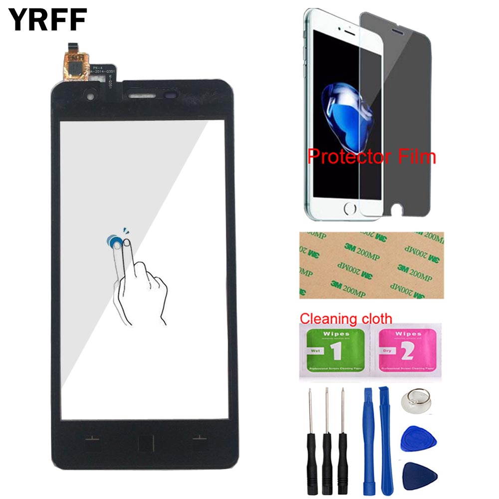Touch Screen Digitizer Panel For Micromax Q351 Touch Screen Panel Lens Sensor Touchscreen Front Glass Tools Protector Film