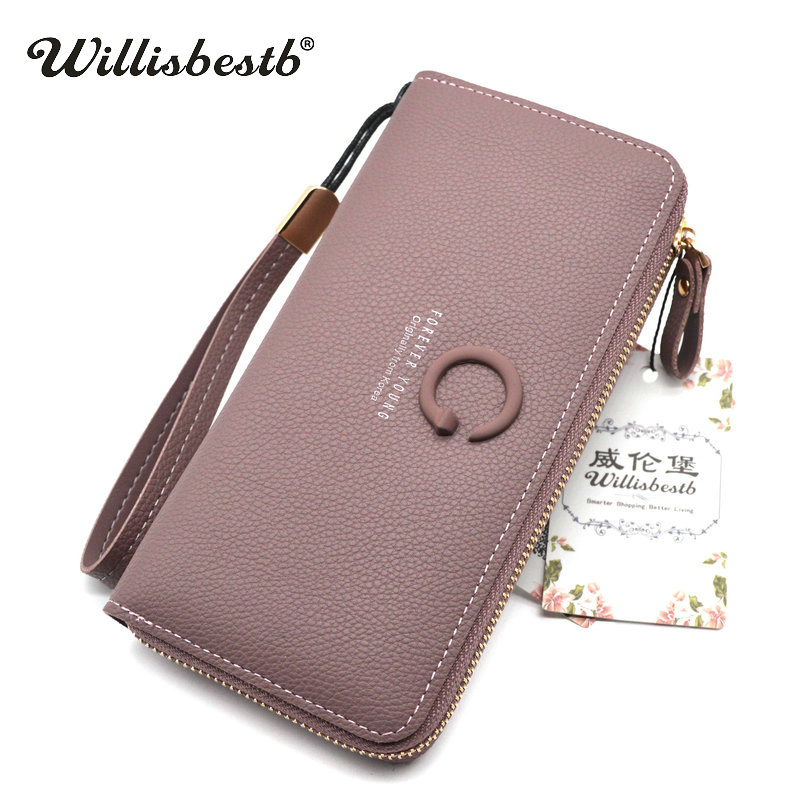 2018 New Brand Designer Female Wallets Women Long Zipper Leather Card Holder Ladies Purse Woman Wallet Clutch Feminina Carteira simline fashion genuine leather real cowhide women lady short slim wallet wallets purse card holder zipper coin pocket ladies