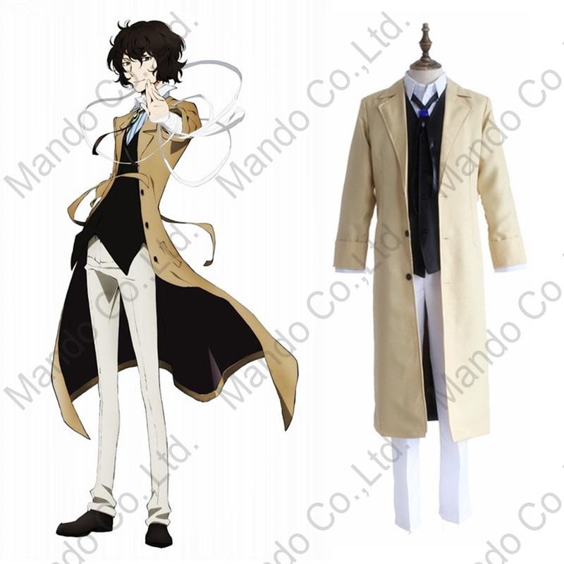 Anime Bungo Stray Dogs Dazai Osamu Cosplay Costumes mans uniform suit Halloween outfit 3pcs set