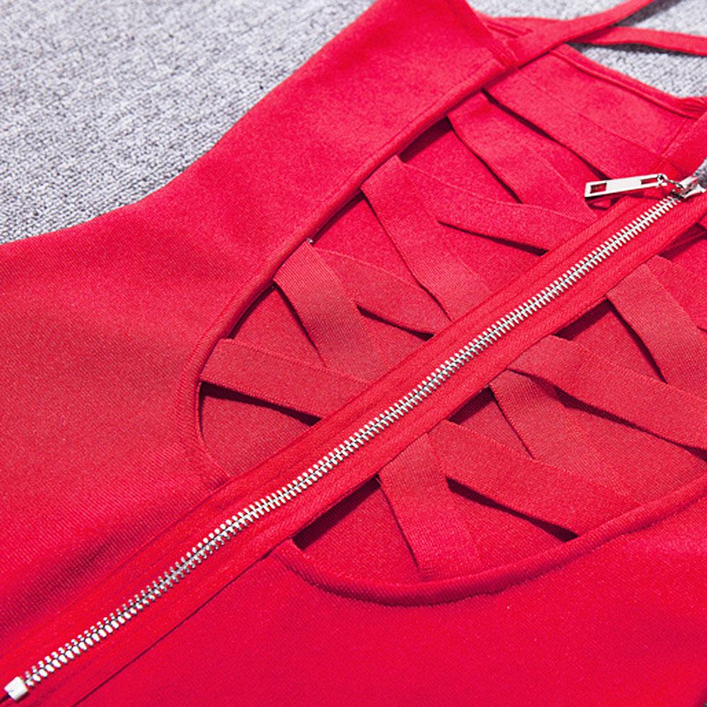rosso Arrivo Rossa All'ingrosso Partito Del Rayon Nero Collo cachi Mini Elastico Vestito Il Croce Nuovo Fasciatura 2018 Dalla Più Commercio gFwq5H5zx