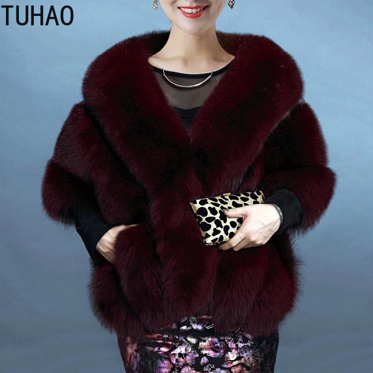 Coats2018 Hiver ardoisé Châle bourgogne Vintage Automne Pour Fausse Fourrure Femmes Manteau Noir Mariage Rouge En noir De blanc Soirée Manteaux rose Veste Fox 5rw5qEB1
