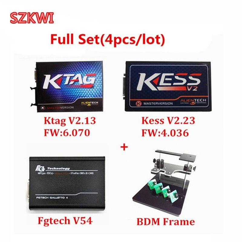 Professionele Wedstrijd KTAG V2.13 HW V6.070 KESS V2 V2.23 HW V4.036 FGTECH V54 V 54 BDM FRAME Geen Tijd Beperkt ECU Chip Interface
