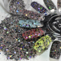 Shiny Holographic Sequins Mix Color Acrylic Nail Glitter Powder Mix Size UV Nail Arts Powder 289