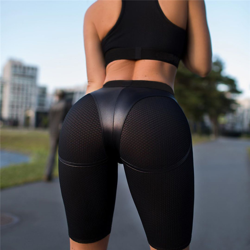 Sports Shorts Women For Fitness Female Workout Wear High Waist Sexy Solid Women Gym Shorts Yoga Running Seamless Plus Size Light