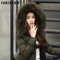 100% Natural Raccoon Fur Collar Scarf Women Real Fur Collar Winter Warm Fluffy Fur Collar Scarves Green scarf