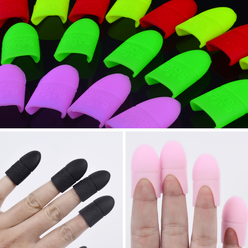 5 unids / set UV Gel Polish Remover Wraps Silicona Soak Off Cap Clip de manicura Nail Art Tools