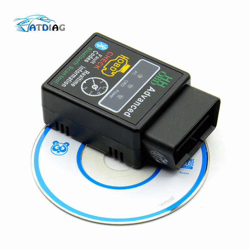 OBD2 HH OBD ELM327 Bluetooth OBDII CAN BUS Check Engine Car Auto Diagnostic Scanner Tool Interface Adapter  For Android PC