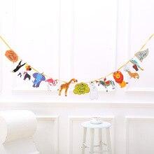 Джунгли для вечеринки в стиле сафари животное День рождения украшения Дети тропические Висячие с днем рождения баннер детская душевая принадлежности